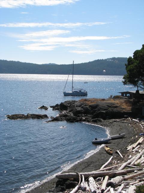 anchored shore